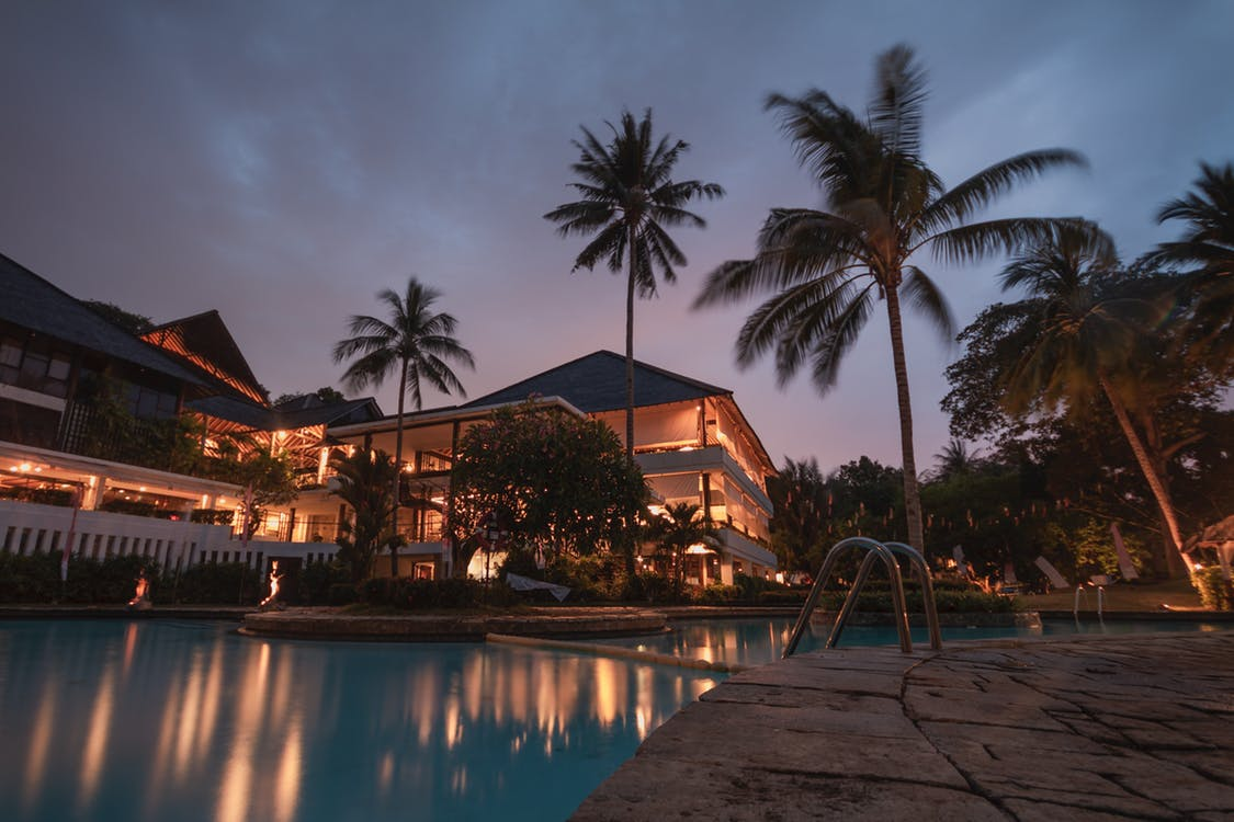 Hotel in the tropics